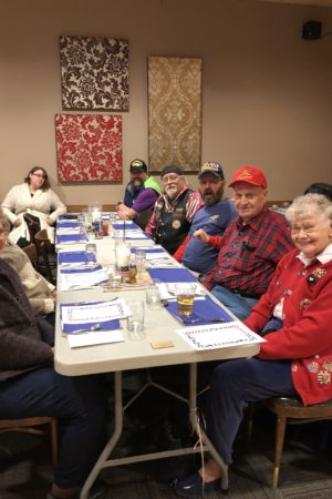 Each year the members serve and prepare a FREE meal to the local veterans